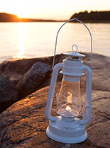 Lantern by the sea.