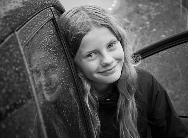 Portrait young girl.